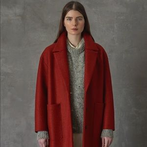 Harris Wharf London Oversized Rust Coat